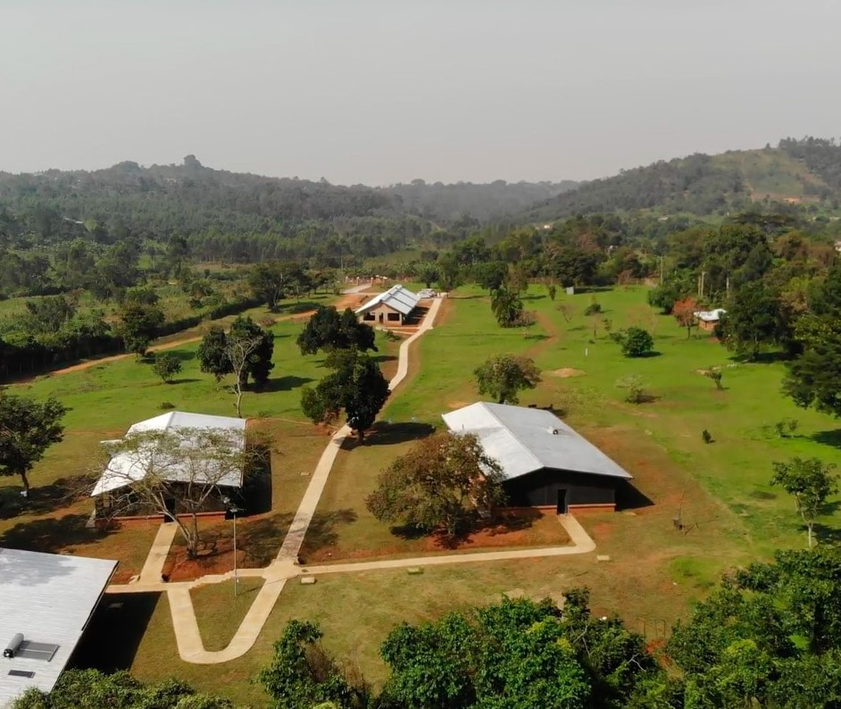 Overhead view of Gem Village in Kampala, Uganda